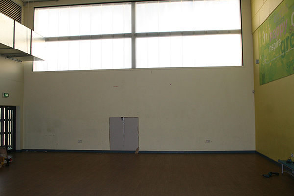 before-sports-hall-wall